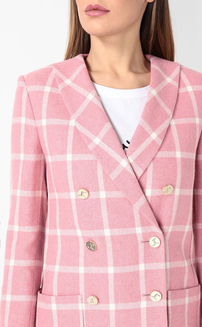 JUST CAVALLI Double-breasted tartan jacket Blazer Woman e