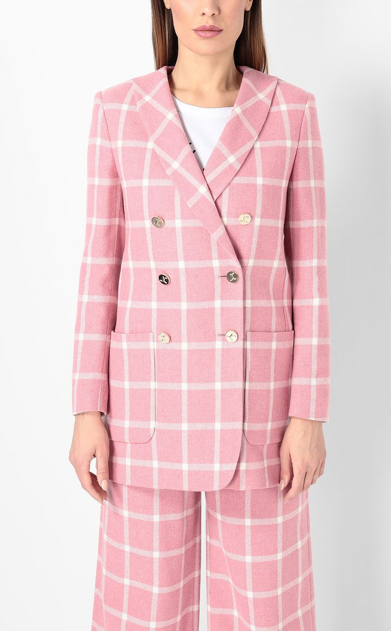 JUST CAVALLI Double-breasted tartan jacket Blazer Woman r