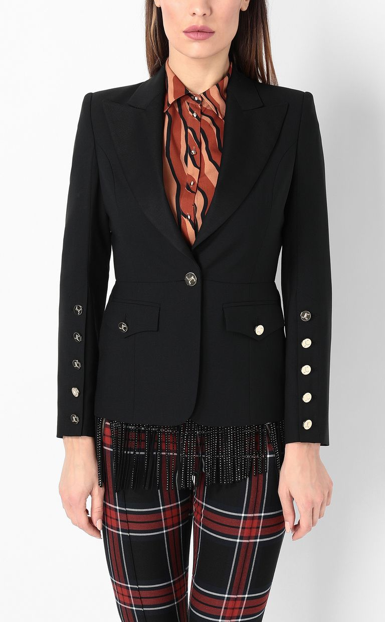 JUST CAVALLI Jacket with big lapels Blazer Woman r