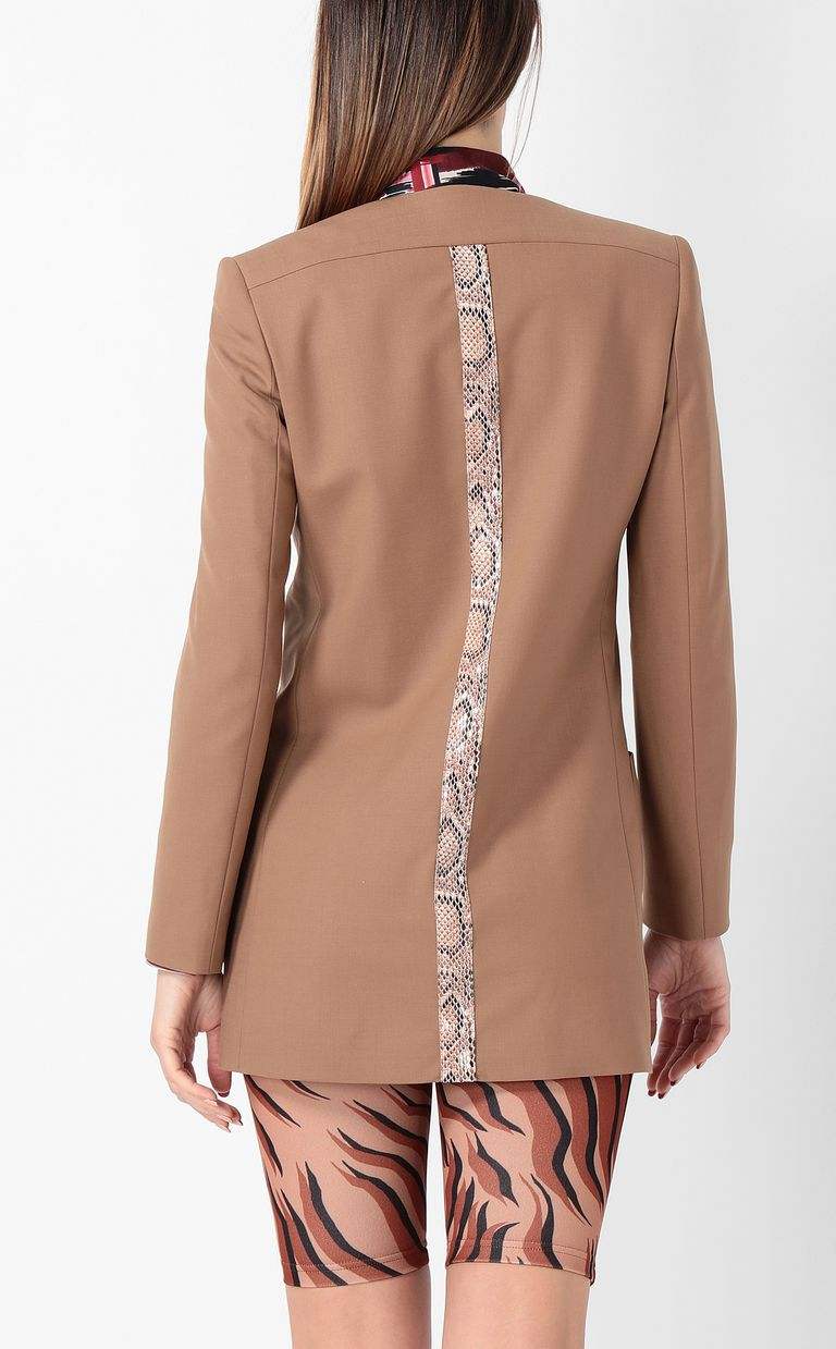 JUST CAVALLI Double-breasted python-band jacket Blazer Woman a