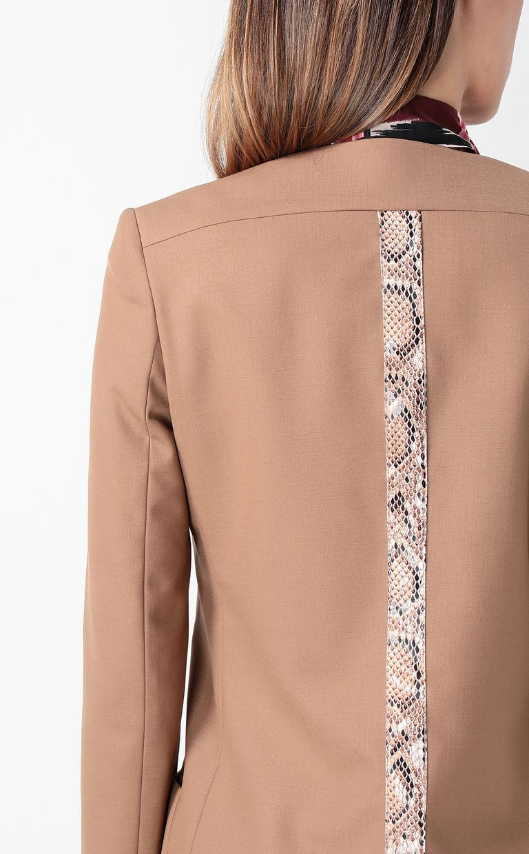JUST CAVALLI Double-breasted python-band jacket Blazer Woman e