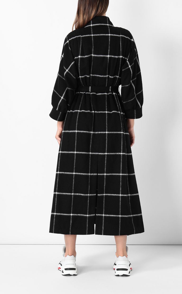 JUST CAVALLI Trench coat with check pattern Coat Woman a