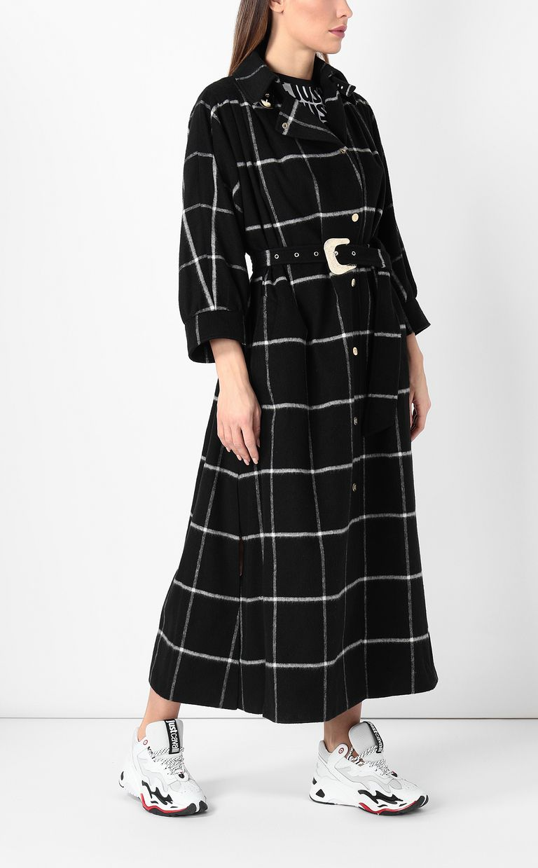 JUST CAVALLI Trench coat with check pattern Coat Woman d