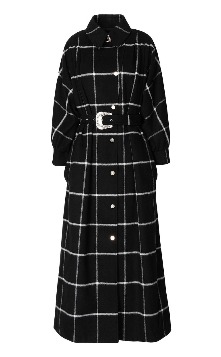 JUST CAVALLI Trench coat with check pattern Coat Woman f