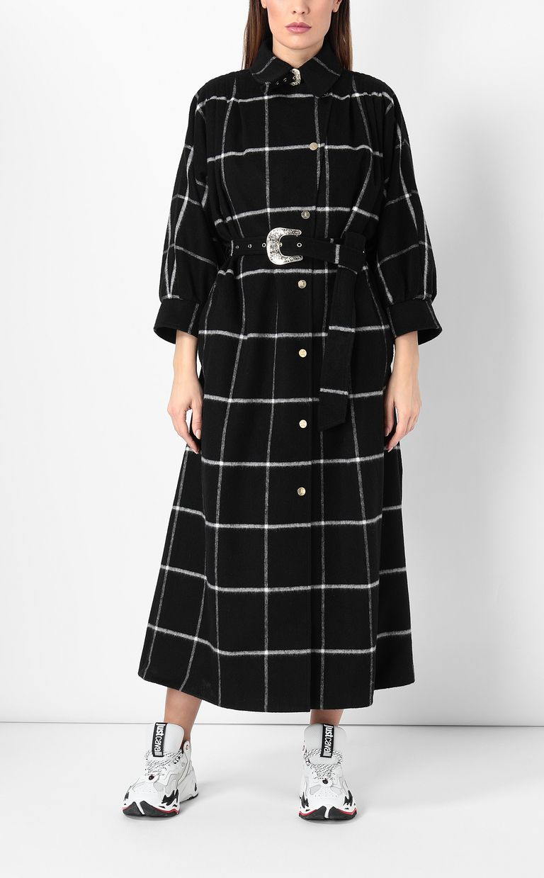 JUST CAVALLI Trench coat with check pattern Coat Woman r