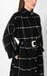 JUST CAVALLI Trench coat with check pattern Coat Woman e