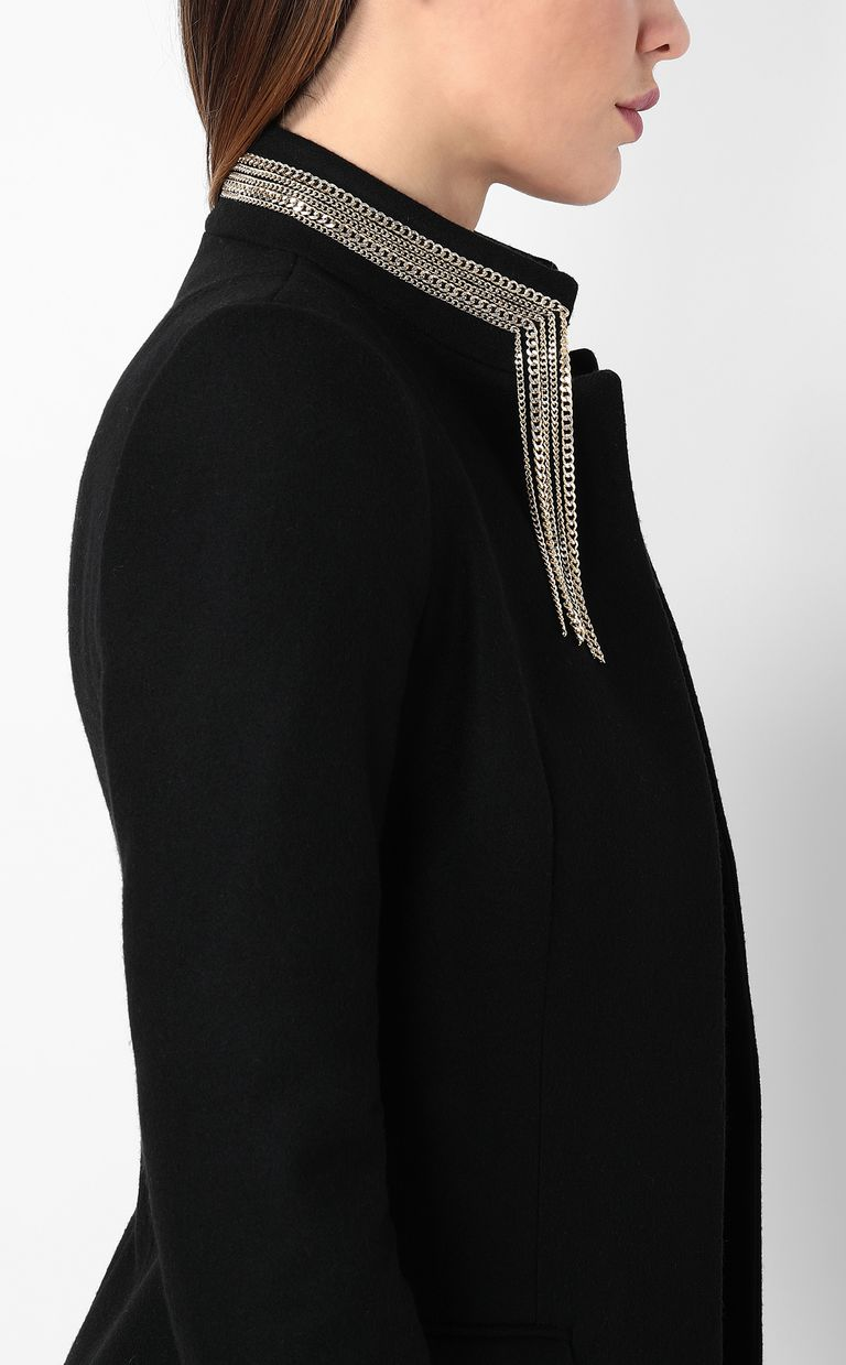 JUST CAVALLI Coat with chain detail Coat Woman e