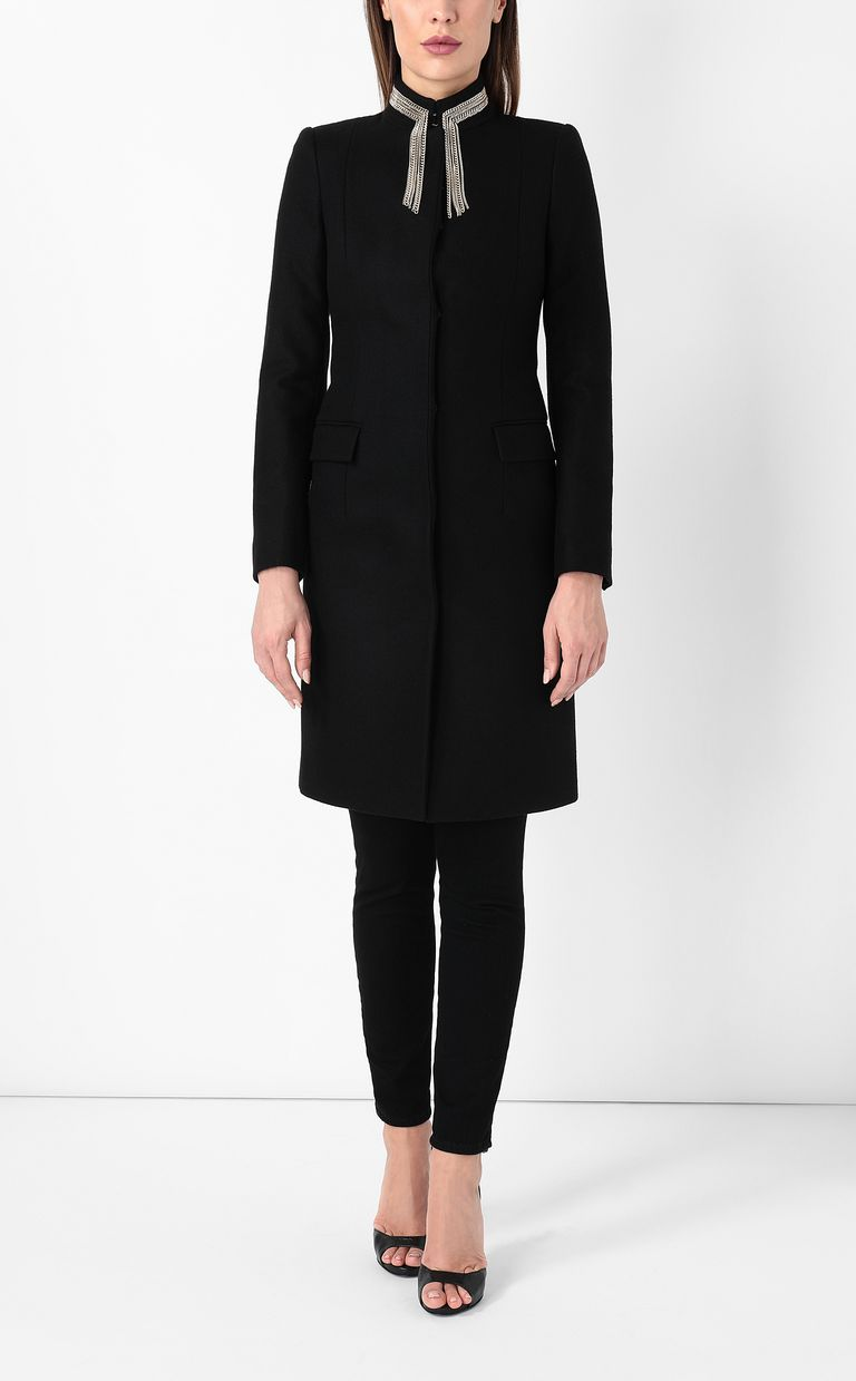 JUST CAVALLI Coat with chain detail Coat Woman r