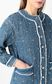 JUST CAVALLI Bomber jacket in quilted denim Coat Woman e