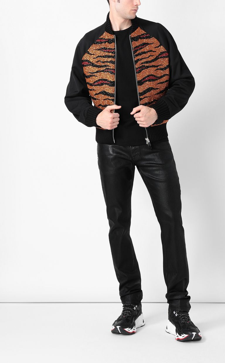 JUST CAVALLI Animal-print bomber jacket Jacket Man d