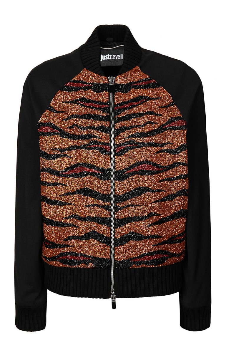 JUST CAVALLI Animal-print bomber jacket Jacket Man f
