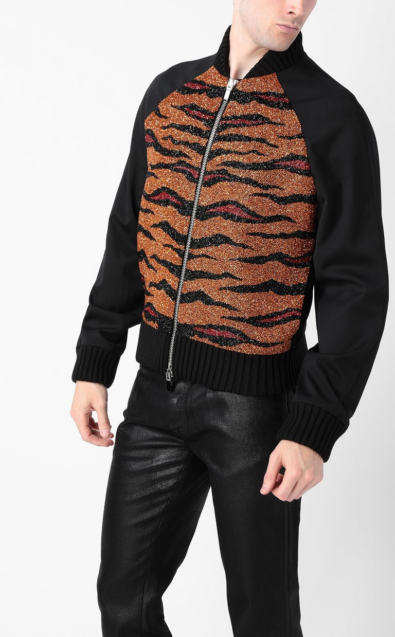 JUST CAVALLI Animal-print bomber jacket Jacket Man r