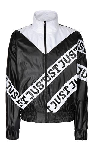 JUST CAVALLI Jacket Man Nylon jacket with Just print f