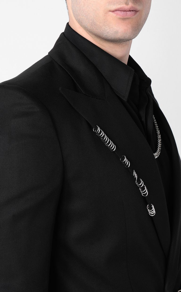 JUST CAVALLI Black jacket with pierced details Blazer Man e