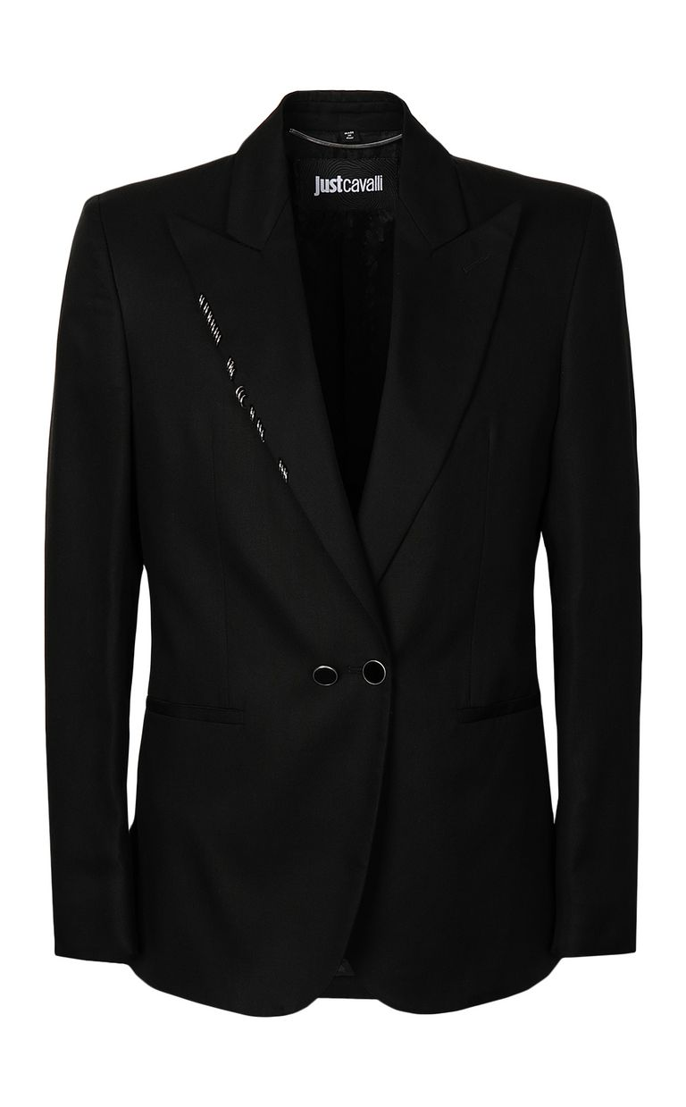 JUST CAVALLI Black jacket with pierced details Blazer Man f