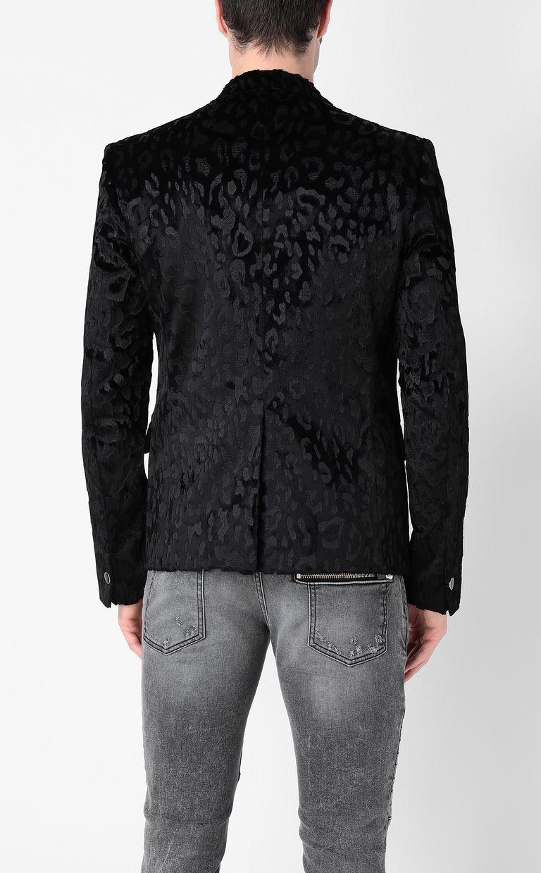 JUST CAVALLI Jacquard-leopard jacket Blazer Man a