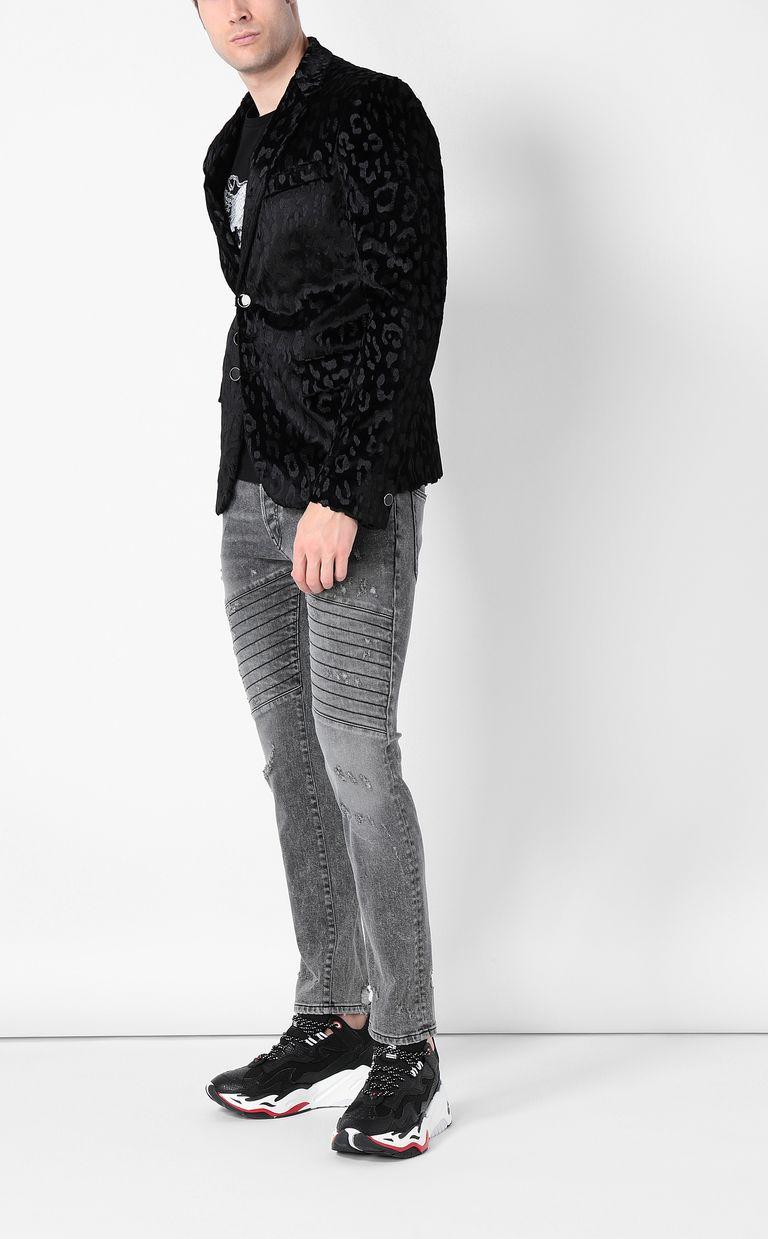 JUST CAVALLI Jacquard-leopard jacket Blazer Man d