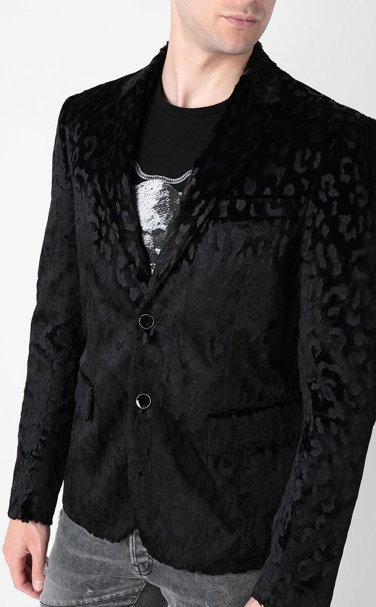 JUST CAVALLI Jacquard-leopard jacket Blazer Man e
