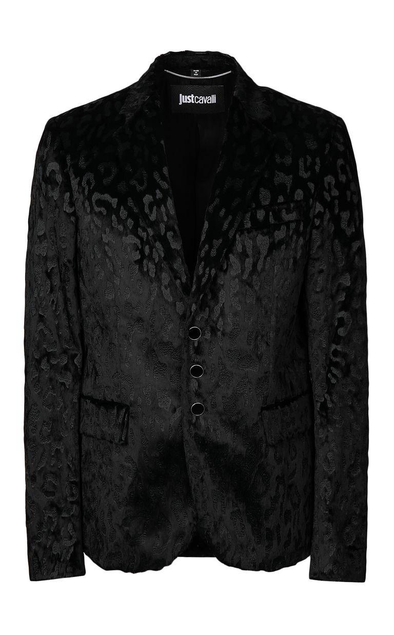 JUST CAVALLI Jacquard-leopard jacket Blazer Man f
