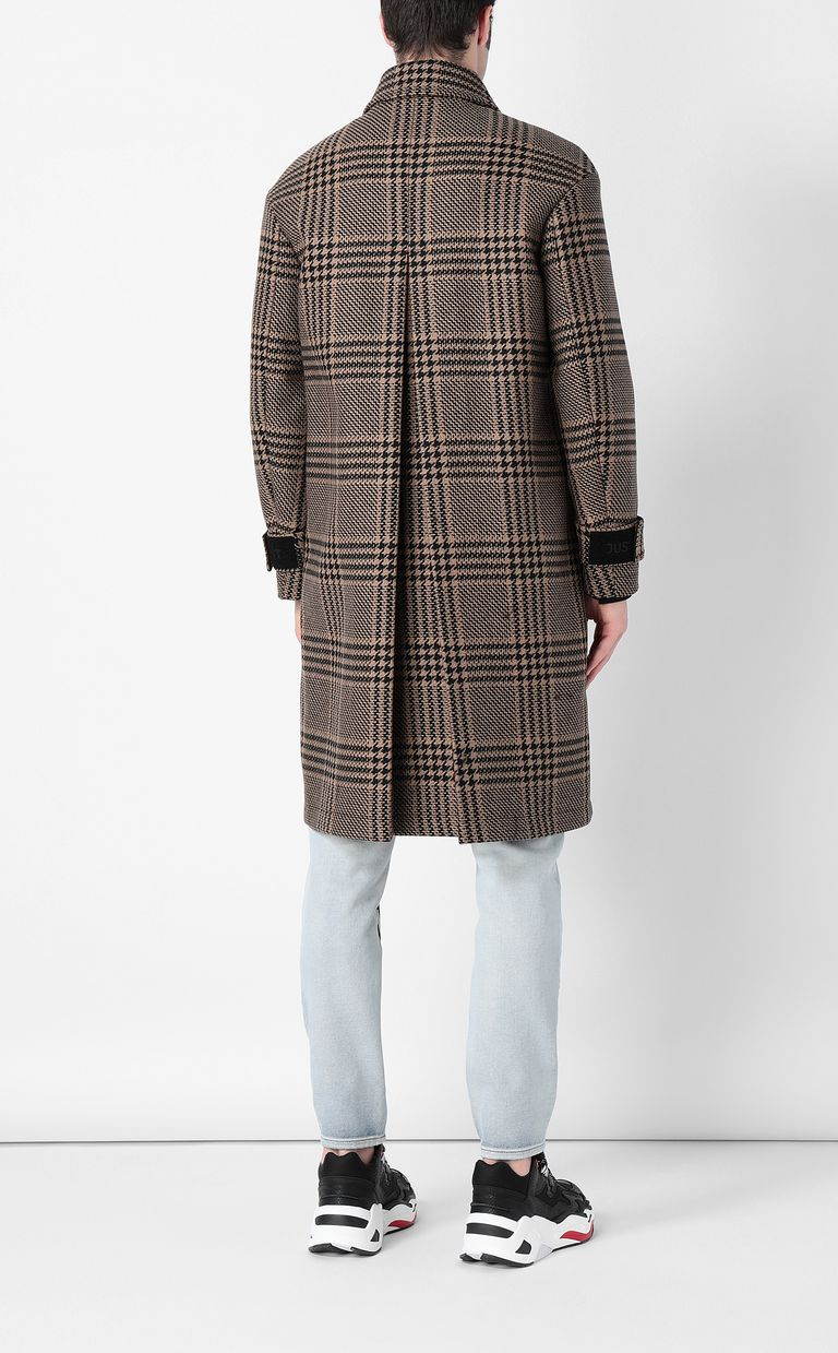JUST CAVALLI Houndstooth-Check Coat Coat Man a