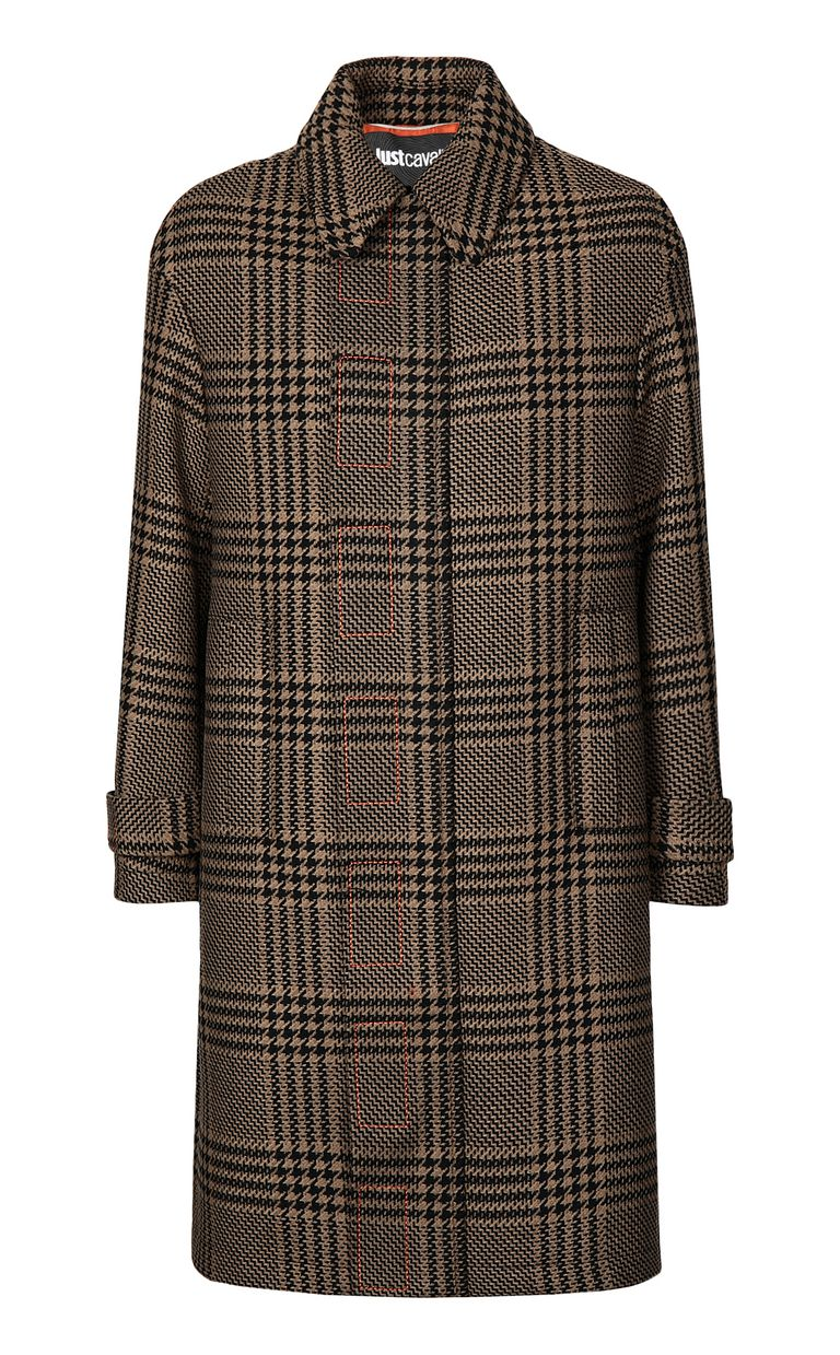 JUST CAVALLI Houndstooth-Check Coat Coat Man f