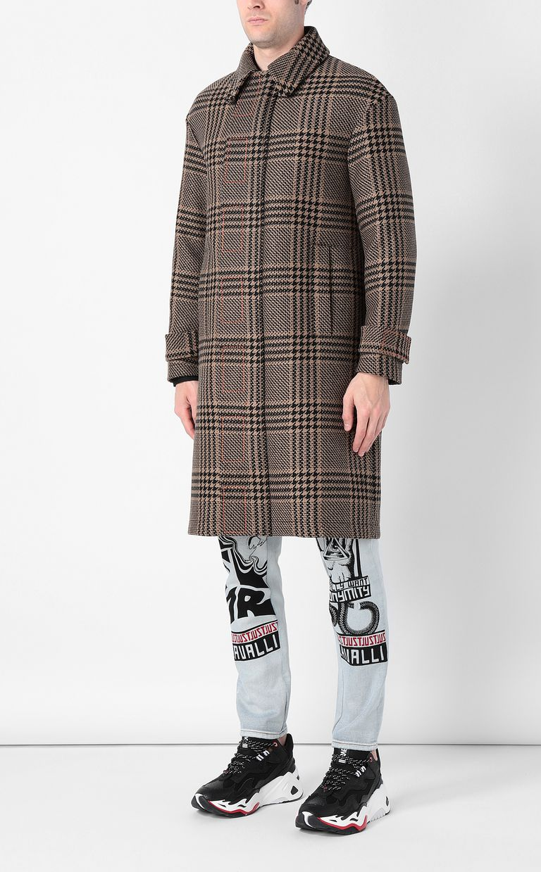 JUST CAVALLI Houndstooth-Check Coat Coat Man r