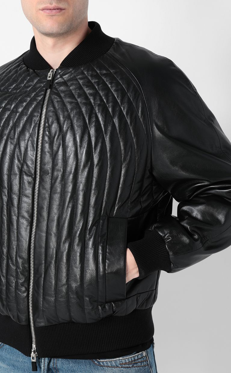 JUST CAVALLI Leather jacket Leather Jacket Man e