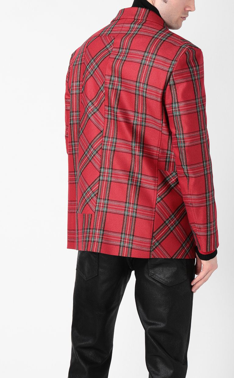 JUST CAVALLI Tartan Jacket Blazer Man a