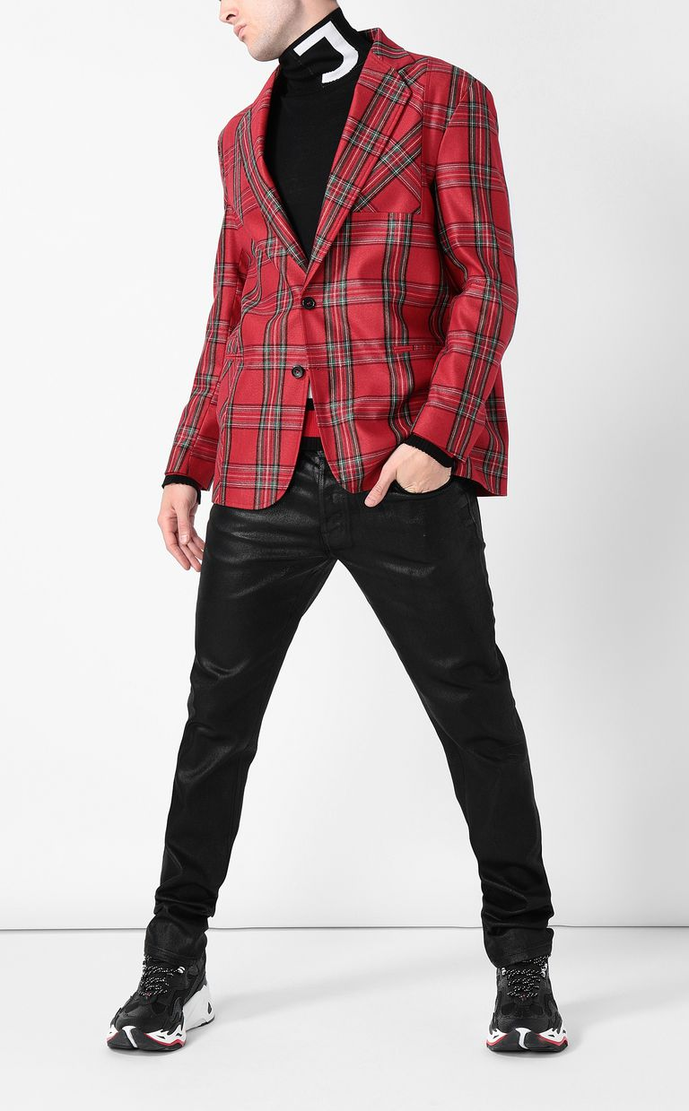 JUST CAVALLI Tartan Jacket Blazer Man d