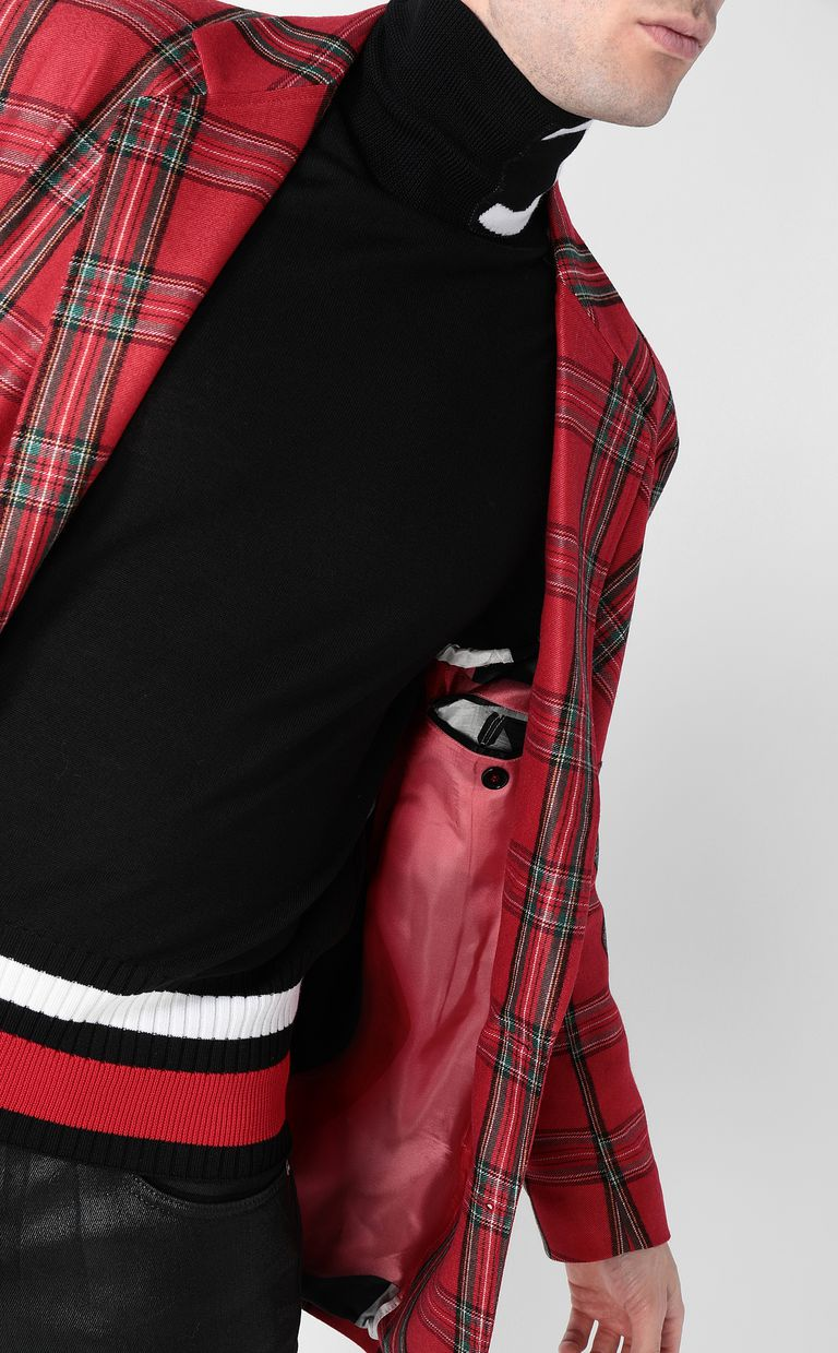 JUST CAVALLI Tartan Jacket Blazer Man e