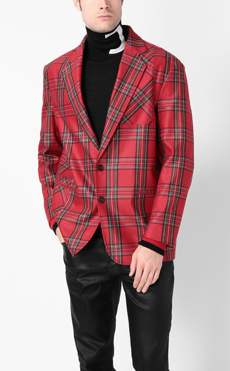 JUST CAVALLI Tartan Jacket Blazer Man r