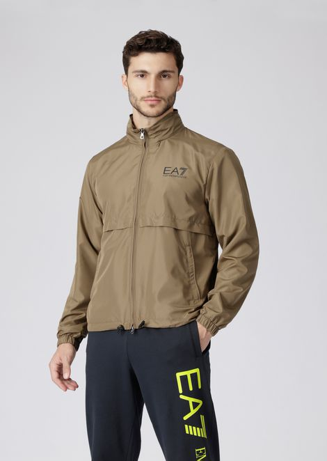 Train Graphic tech fabric windbreaker jacket