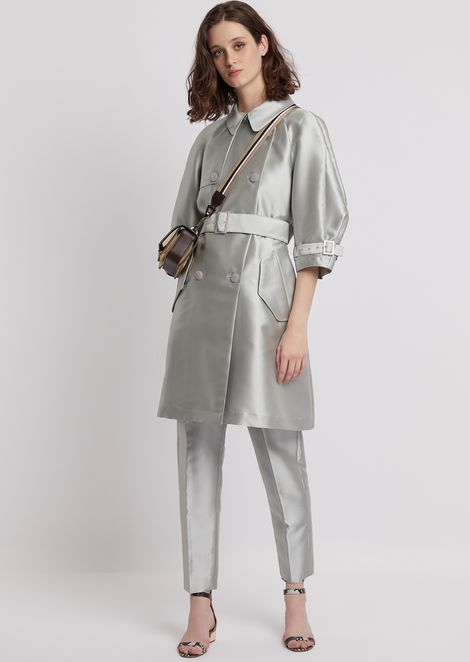 Duster coat in tech batavia with belt