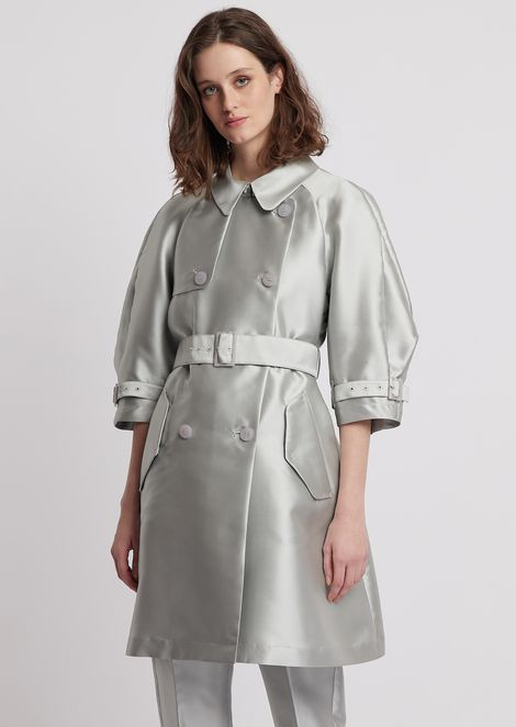 Duster coat in tech batavia with belt