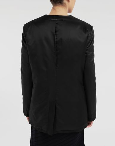 COATS and JACKETS Reversed padded blazer Black