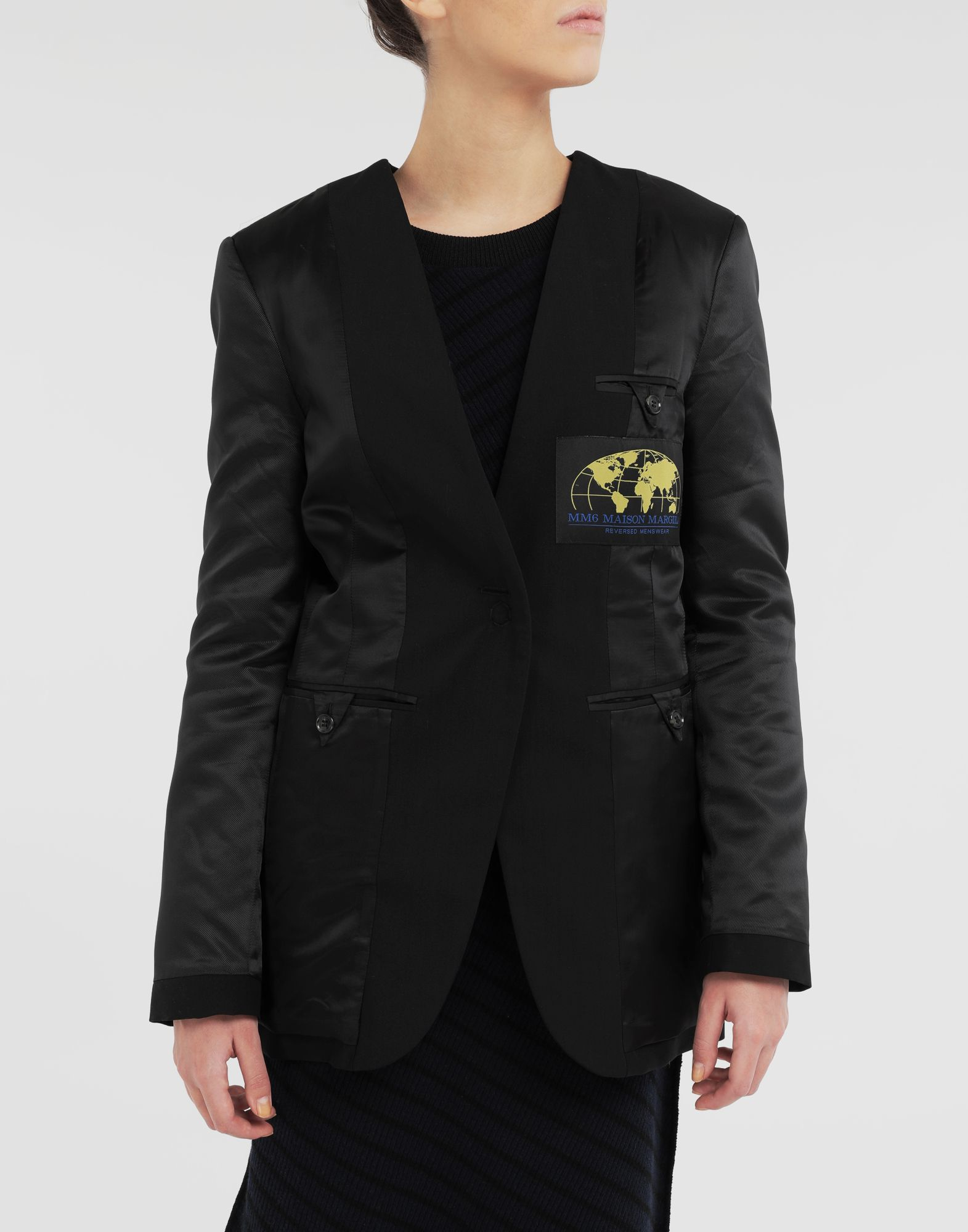 MM6 MAISON MARGIELA Reversed padded blazer Jacket Woman r
