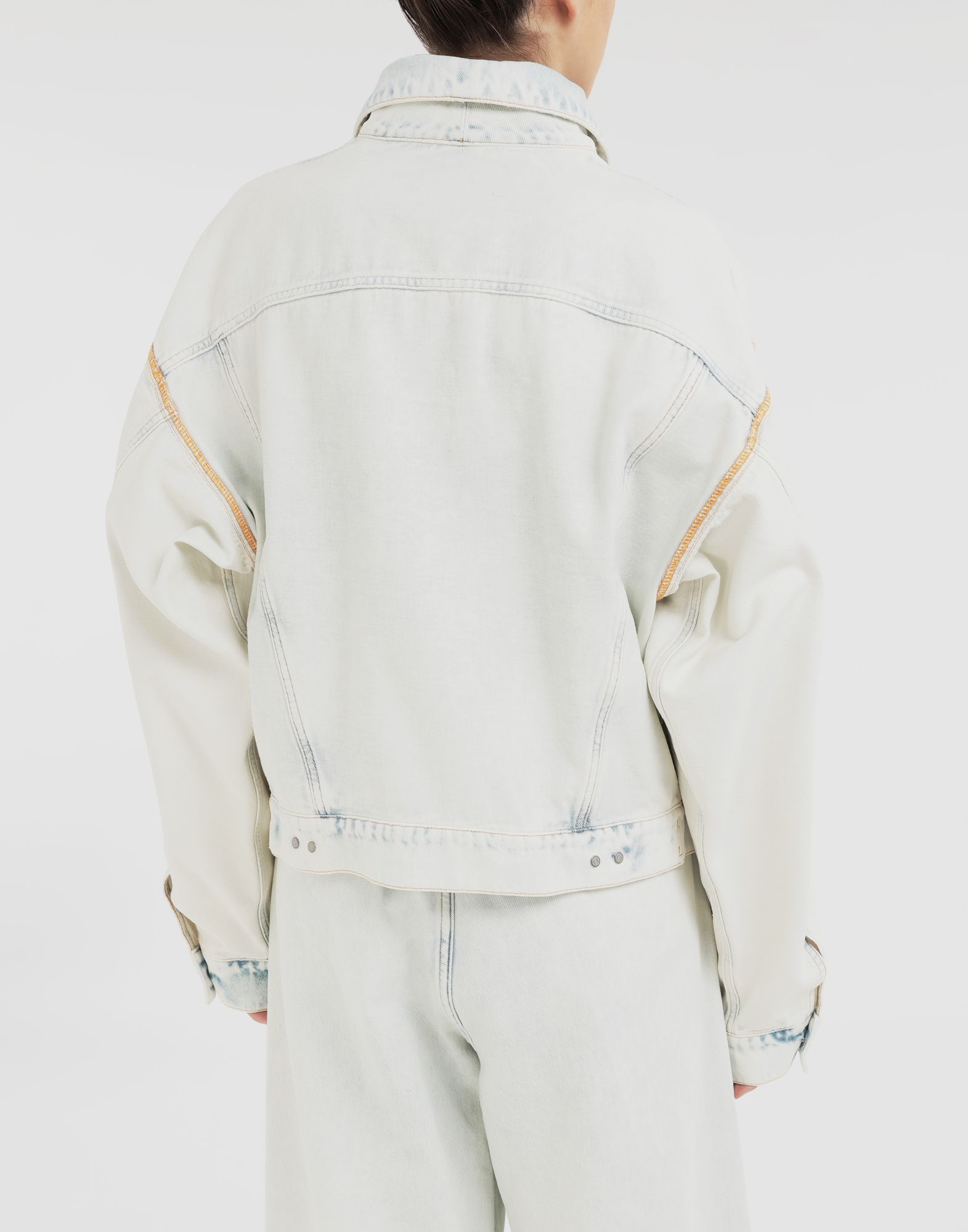 MM6 MAISON MARGIELA Reversed denim jacket Jacket Woman e