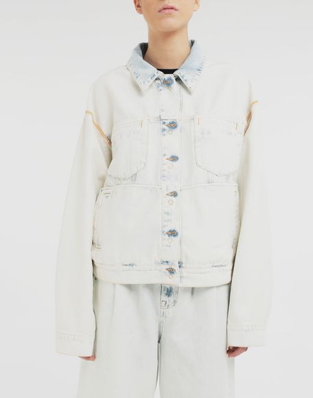 MM6 MAISON MARGIELA Reversed denim jacket Light jacket Woman r