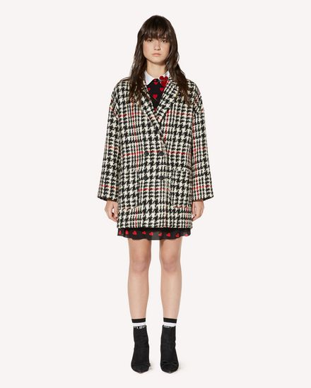Wool hounds tooth  oversize coat