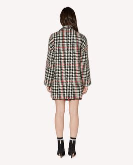 REDValentino Wool hounds tooth  oversize coat