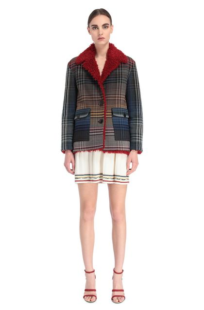 MISSONI Coat Blue Woman - Back