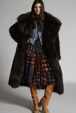 DSQUARED2 Murmasky Maxi Faux Fur Fur Woman