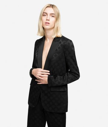 KARL LAGERFELD K/DOTS TAILORED BLAZER