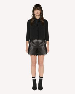 REDValentino Stretch frisottine jacket with zagana detail