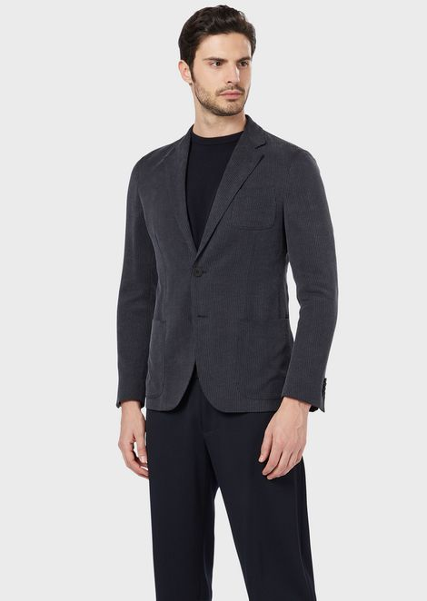 Regular-fit Upton Range Jacket in tweed fabric