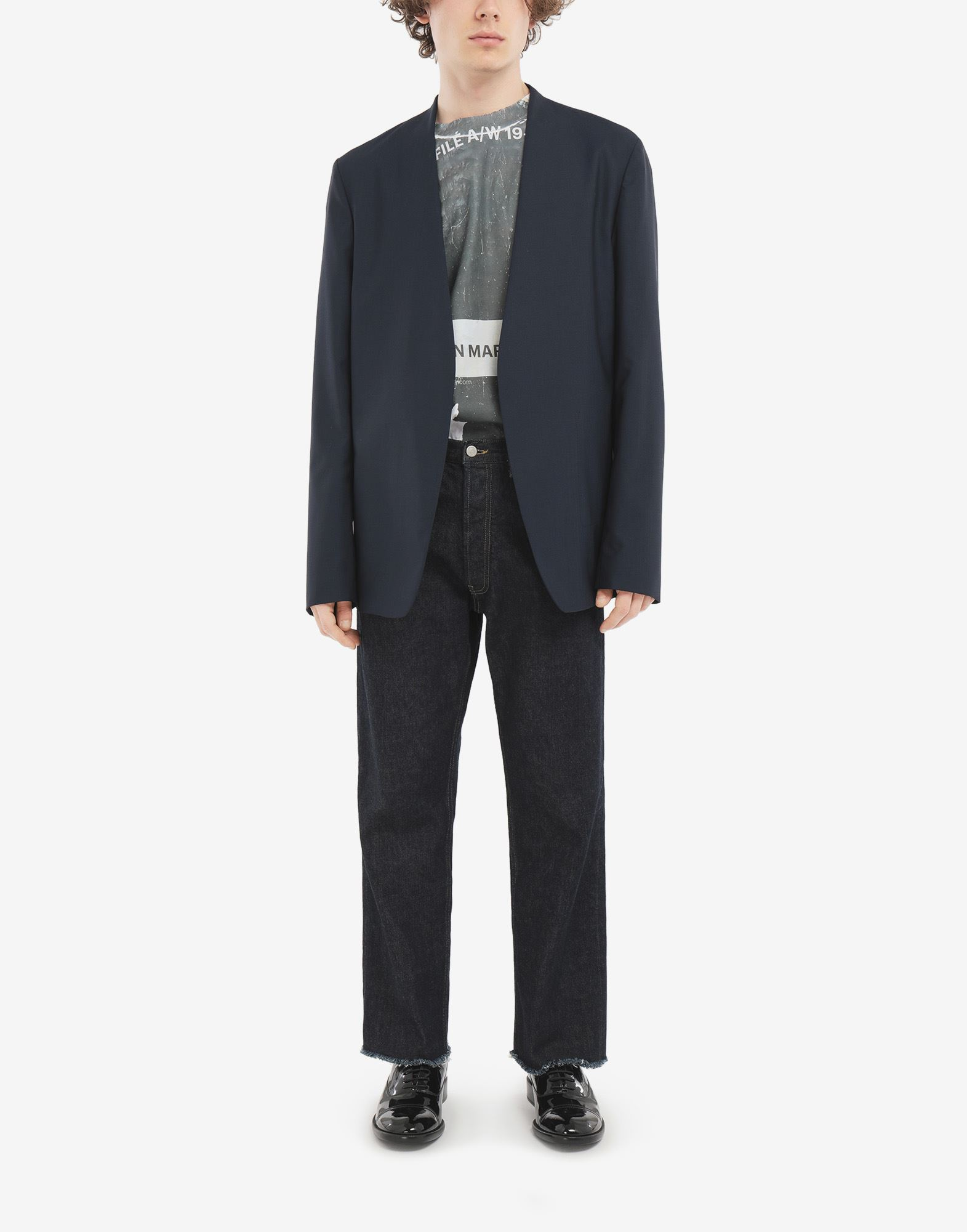 MAISON MARGIELA Collarless blazer Jacket Man d