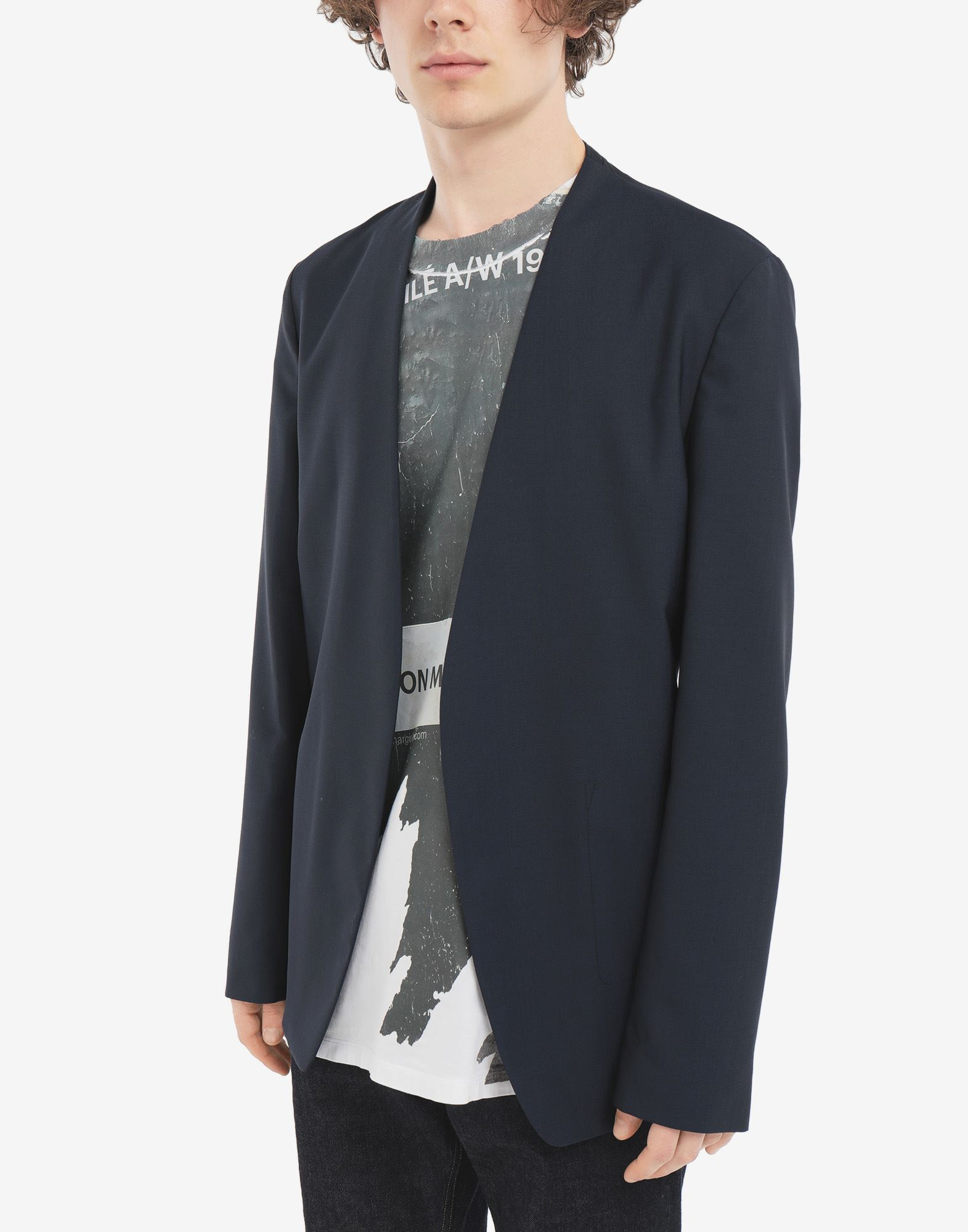 MAISON MARGIELA Collarless blazer Jacket Man r