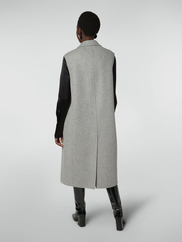 Marni Long vest in felted double wool Woman