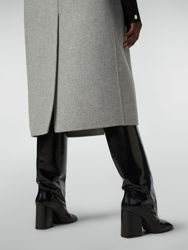 Marni Long vest in felted double wool Woman - 5
