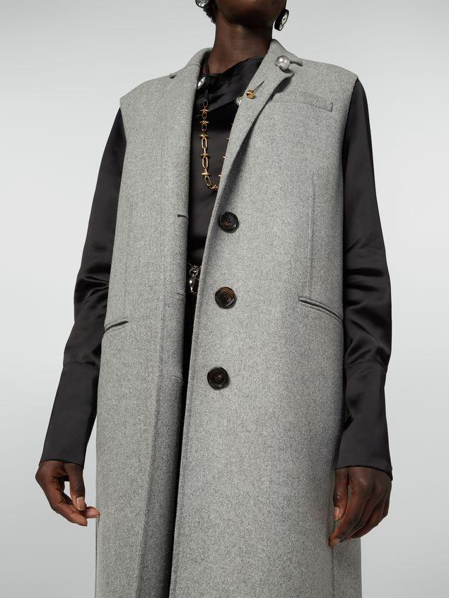 Marni Long vest in felted double wool Woman - 4